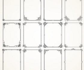 Retro decro frames vector set 03