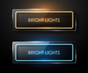Retro lights banners colored vector