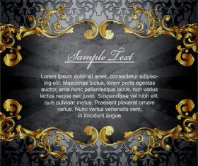 Retro luxury background with golden decorative vector 01