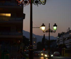 Retro street light Stock Photo 01