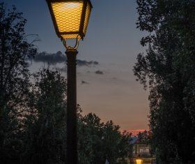 Retro street light Stock Photo 04
