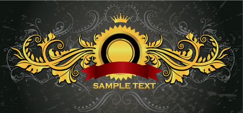 Royal luxury sign vector material