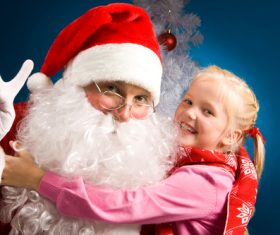 Santa Claus and cute children Stock Photo 04