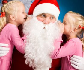 Santa Claus listens to childrens wishes 01