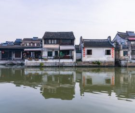 Scenery of Xitang Ancient Town Jiashan Zhejiang China Stock Photo 01