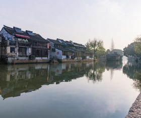 Scenery of Xitang Ancient Town Jiashan Zhejiang China Stock Photo 02