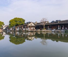 Scenery of Xitang Ancient Town Jiashan Zhejiang China Stock Photo 03