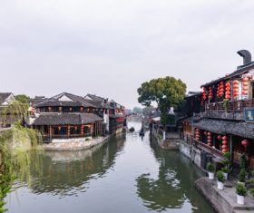 Scenery of Xitang Ancient Town Jiashan Zhejiang China Stock Photo 04