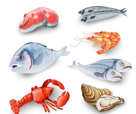Seafood illustration vector design