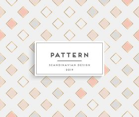 Seamless pattern scandinavian design vector 05