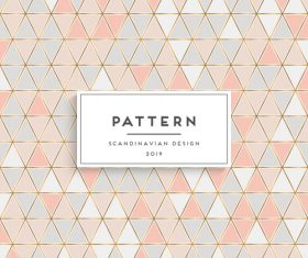Seamless pattern scandinavian design vector 06