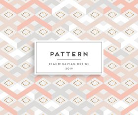 Seamless pattern scandinavian design vector 09