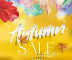 Shiny autumn sale poster vectors