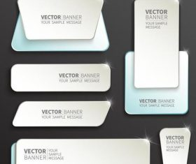 Shiny labels benners template vector 01