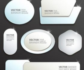 Shiny labels benners template vector 03