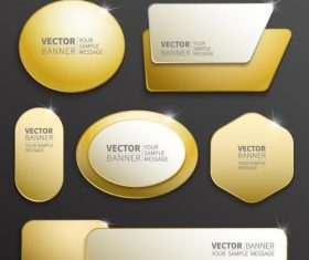Shiny labels benners template vector 04