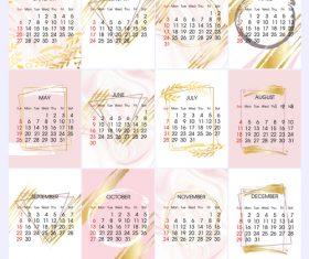 Simple 2019 calendar template vectors 02