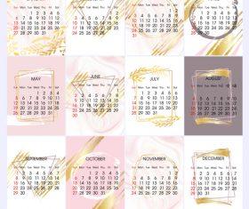 Simple 2019 calendar template vectors 03