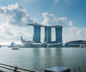 Singapore architectural landscape Stock Photo 03