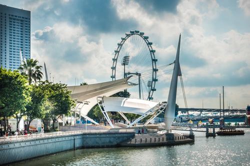 Singapore architectural landscape Stock Photo 04