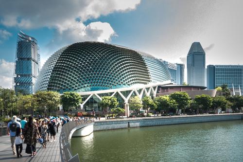 Singapore architectural landscape Stock Photo 05