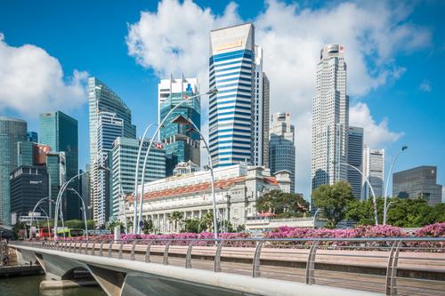 Singapore architectural landscape Stock Photo 06