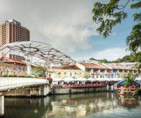 Singapore architectural landscape Stock Photo 08