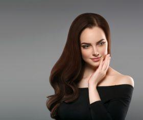 Smooth skin woman beautiful portrait Stock Photo 02
