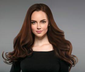 Smooth skin woman beautiful portrait Stock Photo 03