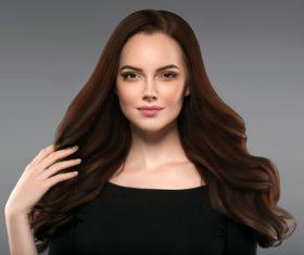 Smooth skin woman beautiful portrait Stock Photo 08