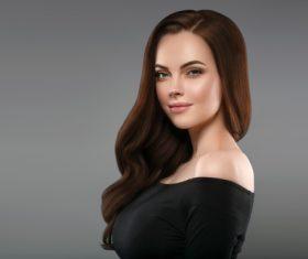 Smooth skin woman beautiful portrait Stock Photo 10