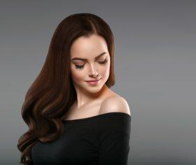 Smooth skin woman beautiful portrait Stock Photo 11