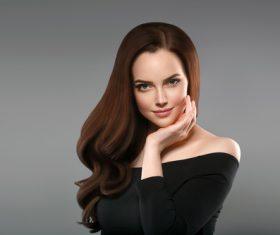 Smooth skin woman beautiful portrait Stock Photo 12