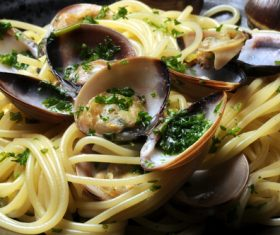 Spaghetti with clams Stock Photo 03