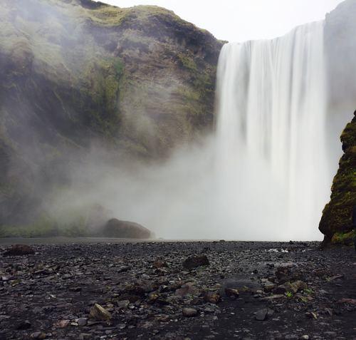 Spectacular Skoga Falls Stock Photo 01