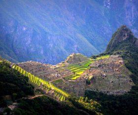 Spectacular scenery of Machu Picchu Inca ruins Peru Stock Photo 03