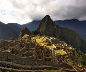 Spectacular scenery of Machu Picchu Inca ruins Peru Stock Photo 05