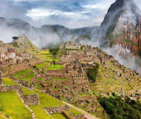 Spectacular scenery of Machu Picchu Inca ruins Peru Stock Photo 07