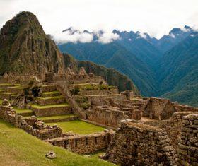 Spectacular scenery of Machu Picchu Inca ruins Peru Stock Photo 09