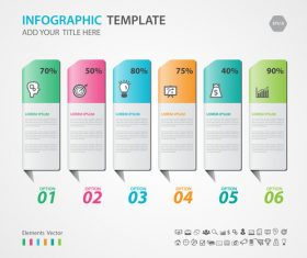 Steps options infographic template vector 01