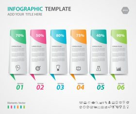 Steps options infographic template vector 02