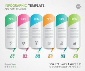 Steps options infographic template vector 03