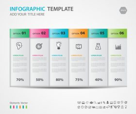 Steps options infographic template vector 05
