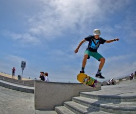 Stock Photo Awesome skateboard movement 01
