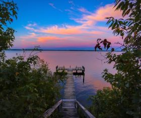 Stock Photo Beautiful sunset at the horizon