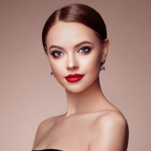 Stock Photo Beautiful Woman Face With Perfect Makeup 02 -3552