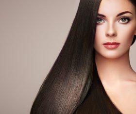 Stock Photo Beautiful woman face with perfect makeup 03