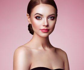 Stock Photo Beautiful woman face with perfect makeup 06