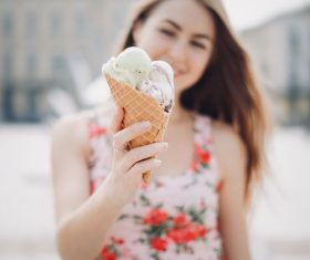 Stock Photo Closeup ice cream cone