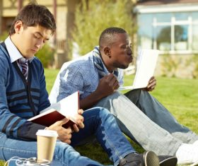 Stock Photo College students studying together 10